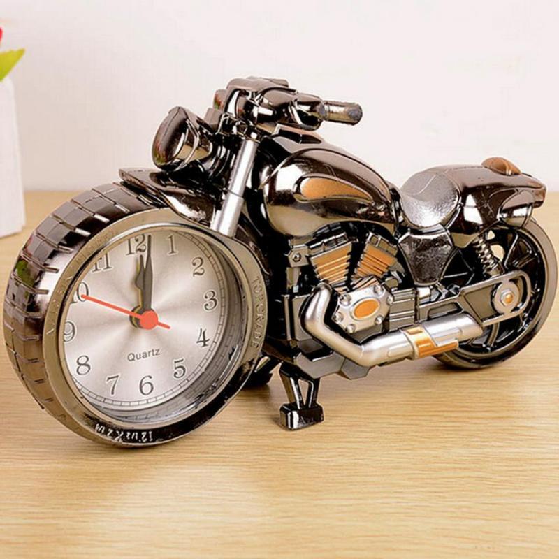 Nơi bán Đồng hồ để bàn hình moto có chế độ báo thức (Vàng ghi)