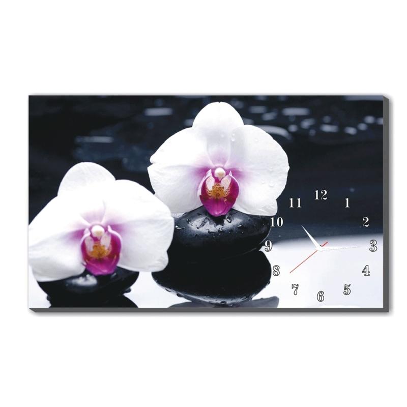 Nơi bán Đồng hồ để bàn Hoa Lan Trắng Dyvina B1525-23