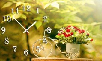 Đồng hồ để bàn Xe đạp hoa SueMall DB140105