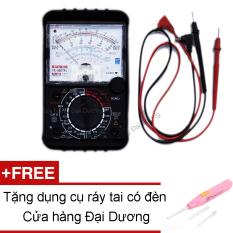 Đồng hồ đo kim vạn năng VOM YX360TRe (Đen) + Tặng dụng cụ ráy tai có đèn
