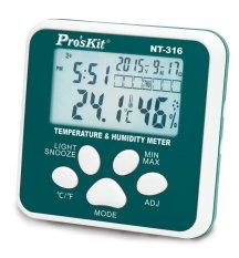 Đồng hồ đo nhiệt độ độ ẩm Proskit NT-316 (Trắng phối xanh)