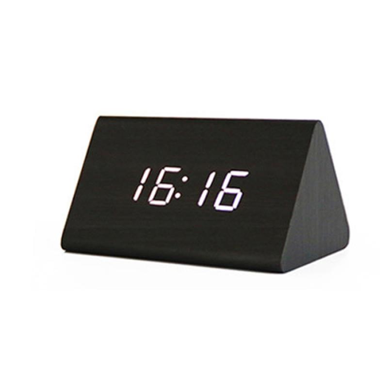 Đồng Hồ Gỗ Báo Thức (Wood LED Digital Desk Alarm) Trắng bán chạy