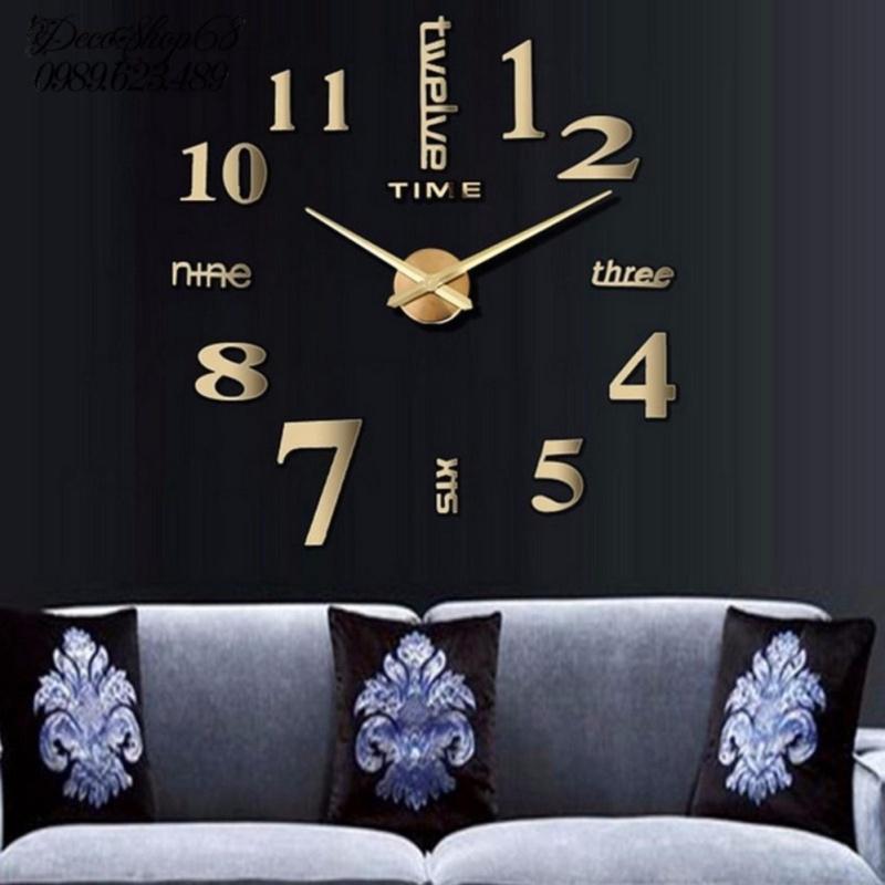 Nơi bán Đồng hồ trang trí treo tường - gắn tường sáng tạo 3D DH01-V Decoshop68 giá tốt