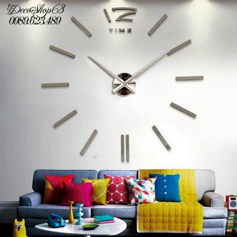 Nơi bán Đồng hồ trang trí treo tường - gắn tường sáng tạo 3D DH03-B Decoshop68 giá tốt