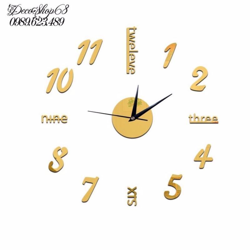 Nơi bán Đồng hồ trang trí treo tường - gắn tường sáng tạo DH02-V Decoshop68 giá tốt