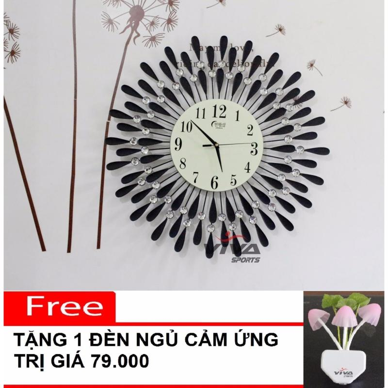 Nơi bán Đồng hồ trang trí treo tường JT1301 pha lê (Đen)