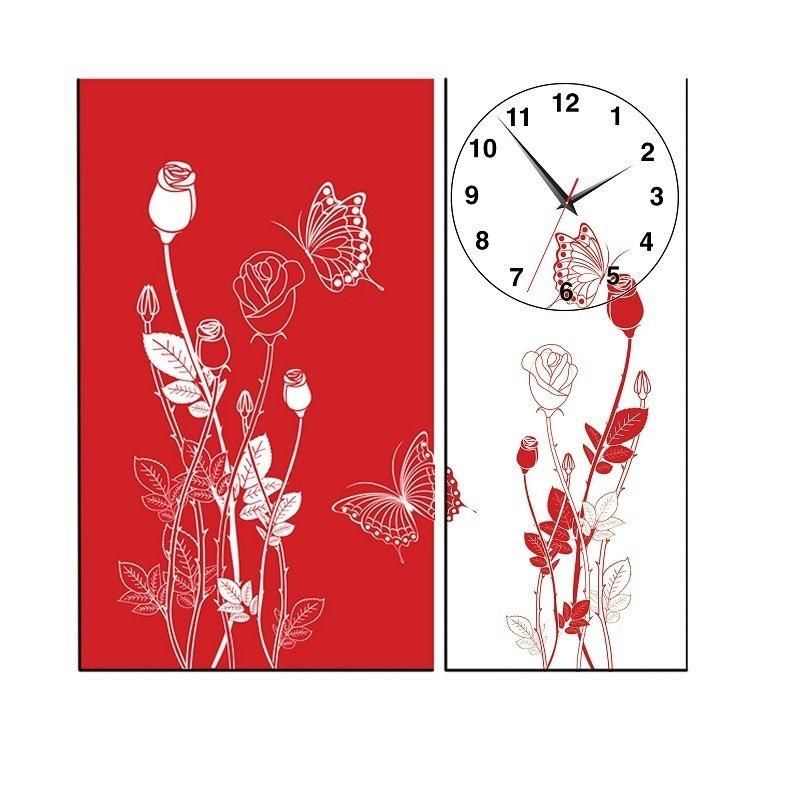 Nơi bán Đồng hồ tranh Hoa hồng Vicdecor DHT0205