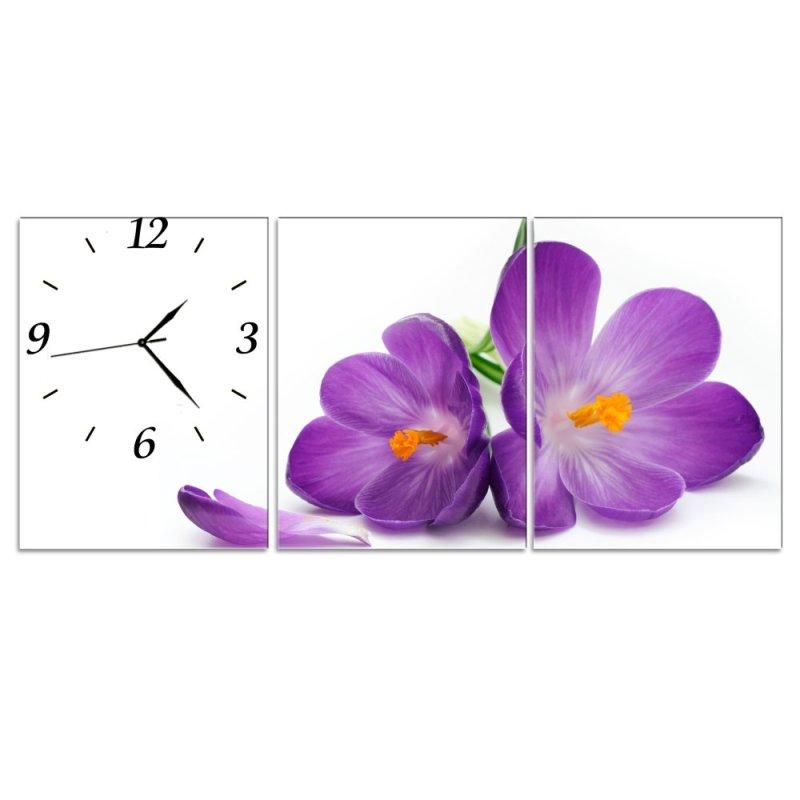 Nơi bán Đồng hồ tranh Hoa tím Vicdecor DHT0040