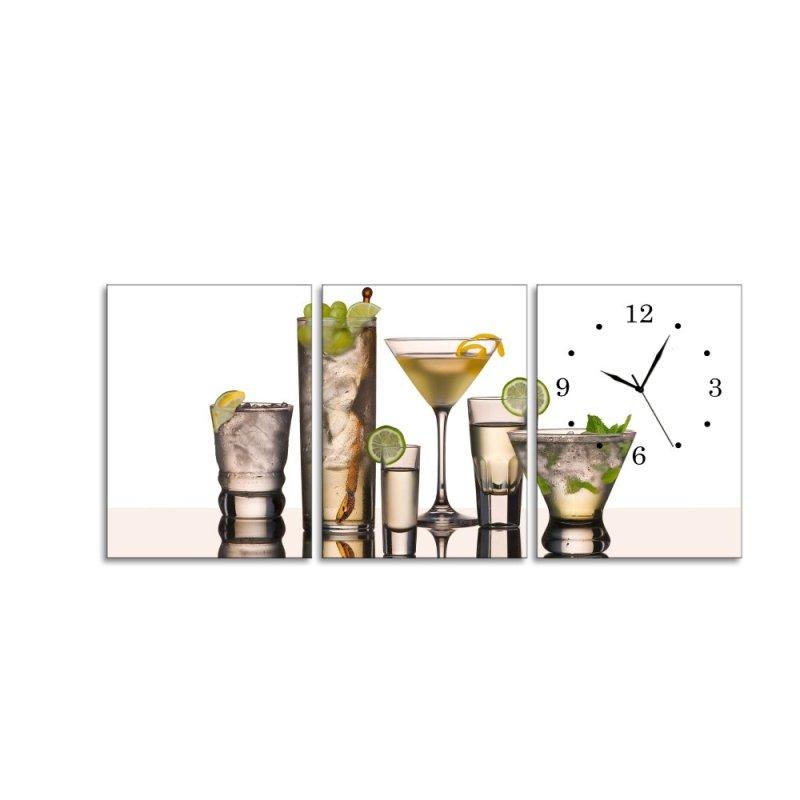 Nơi bán Đồng hồ tranh Ly cocktail Vicdecor DHT0032 (50cm x 30cm x 0,9cm x 3 tấm)