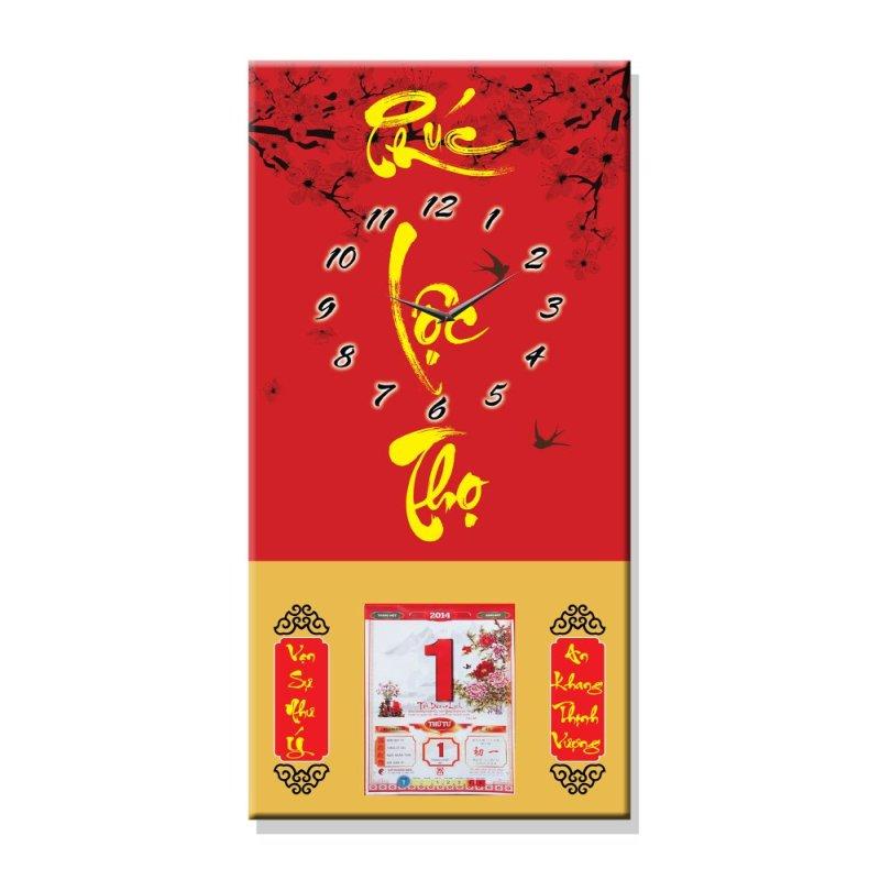 Nơi bán Đồng hồ tranh Phúc Lộc Thọ Dyvina L4060-2
