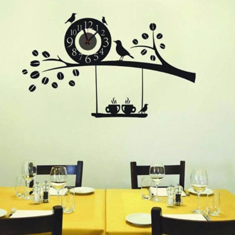 Nơi bán Đồng hồ treo tường Diachire DIY kết hợp Decal Chim én gọi bầy phong cách