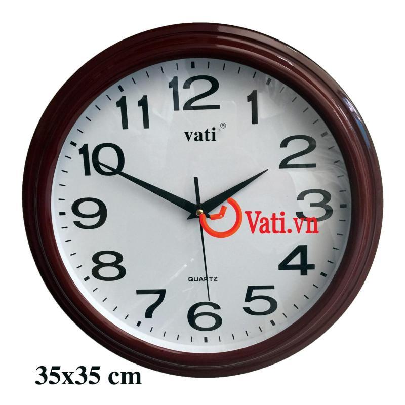 Nơi bán đồng hồ treo tường độc đáo vati -f46 ( nâu đỏ)