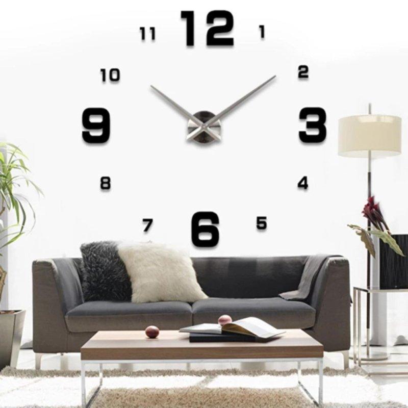 Nơi bán Đồng hồ treo tường đường kính tới 120cm cho phòng khách lớn DCR-01 (Đen)