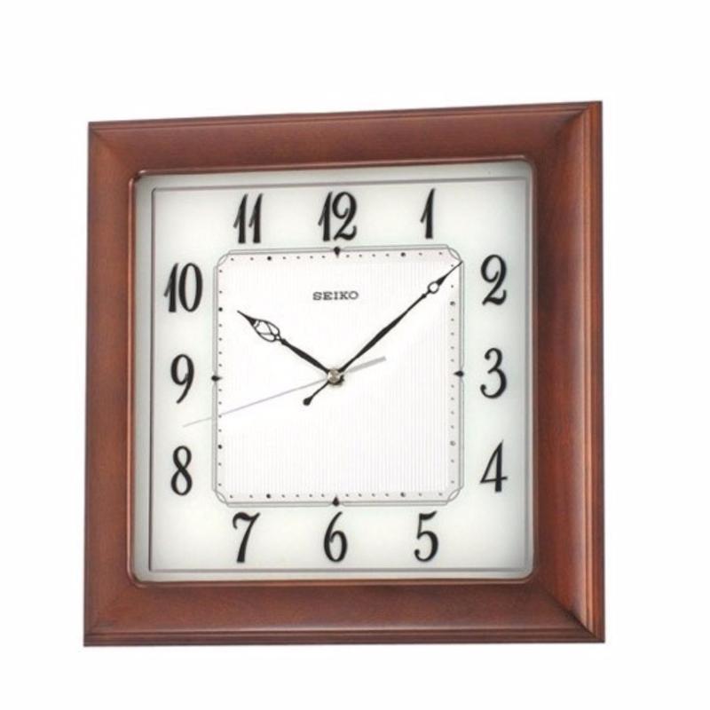 Nơi bán đồng hồ treo tường gỗ Sồi vuông seiko QXA390BN-Z