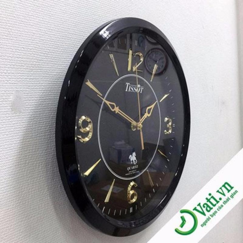 Nơi bán Đồng hồ treo tường hình tròn Black Vati S8-Thích hợp trang trí phòng khách