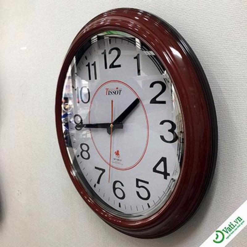 Nơi bán Đồng hồ treo tường hình tròn Brown Vati S20-Thích hợp làm quà tặng