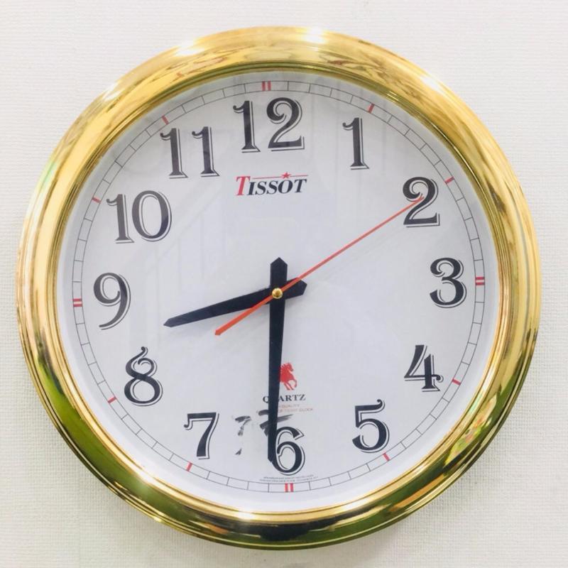 Nơi bán Đồng hồ treo tường hình tròn Vati S37 (gold) - món quà tân gia cực kì sang trọng
