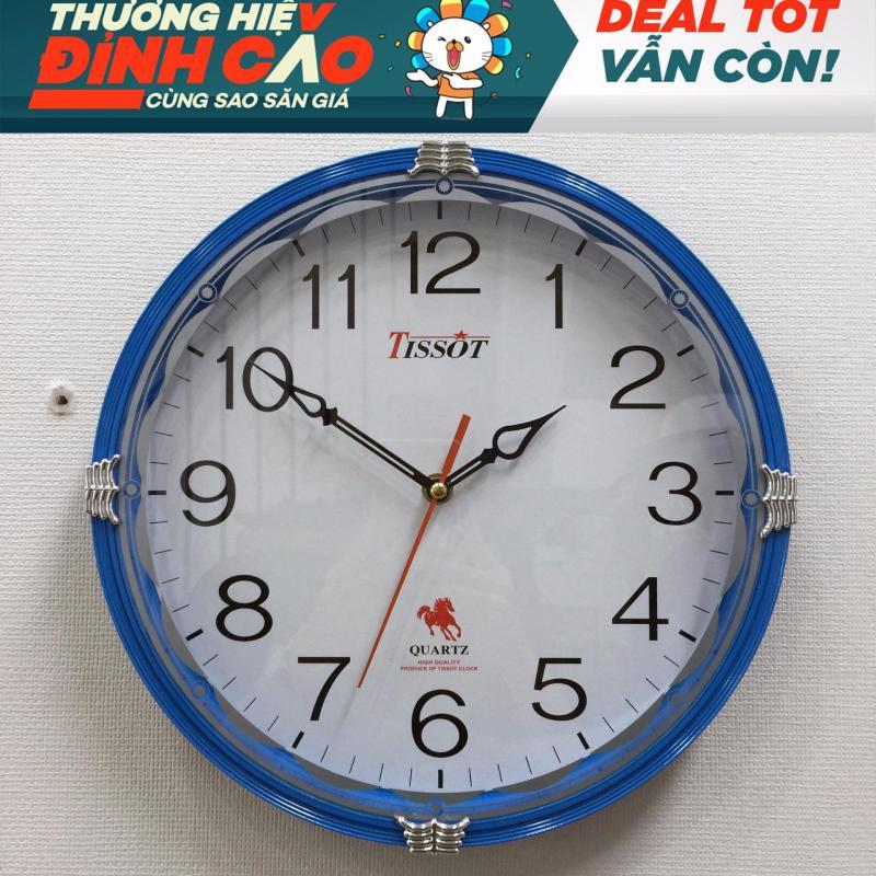 Nơi bán Đồng hồ treo tường hình tròn Vati S65 (xanh da trời)-Chất liệu cao cấp siêu bền