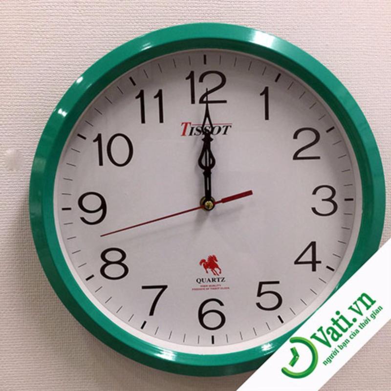 Nơi bán Đồng hồ treo tường hình tròn vati S9 ( Xanh xậm )-Mới 100%