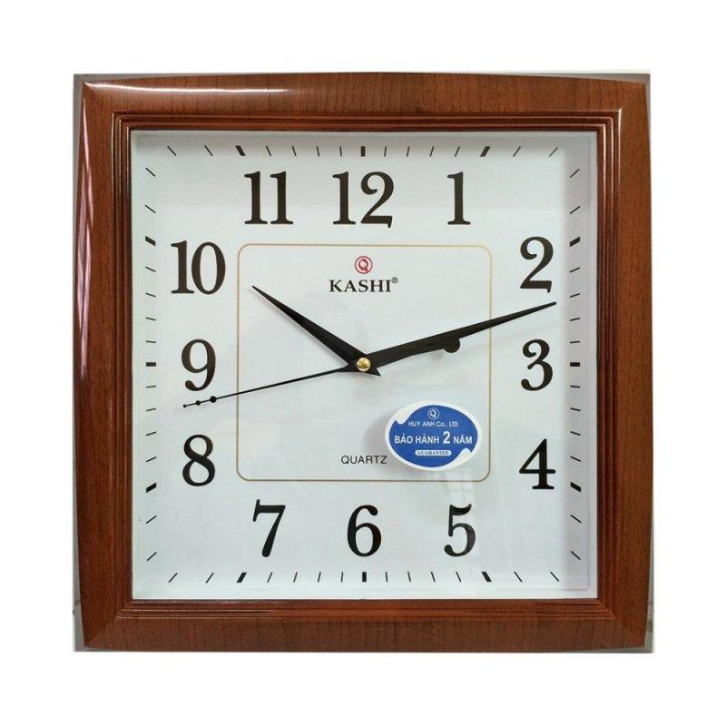 Nơi bán Đồng hồ treo tường Kashi K711 (Nâu phối trắng) - Hàng nhập khẩu