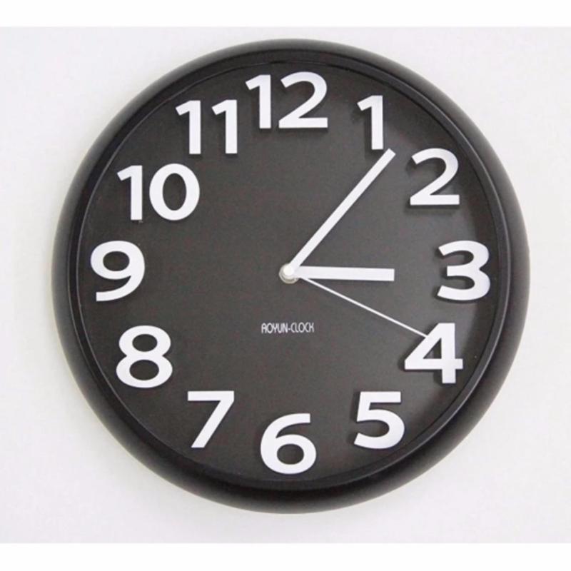 Nơi bán Đồng hồ treo tường kim trôi Aoyun Clock (Đen) RCB157