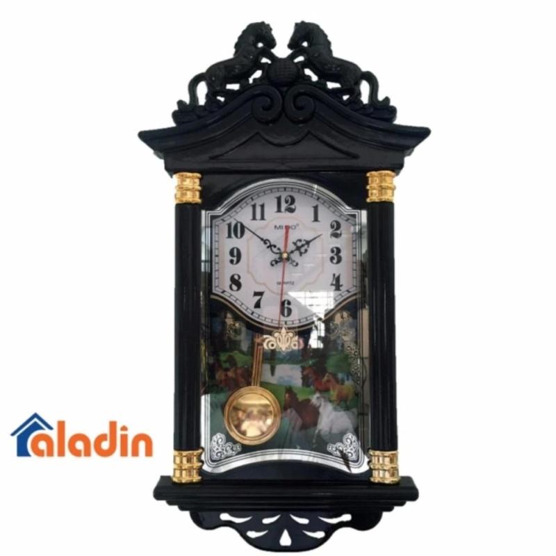 Nơi bán Đồng hồ treo tường quả lắc hình ngôi nhà vati f19( nâu )-Khuyến mãi giá sốc