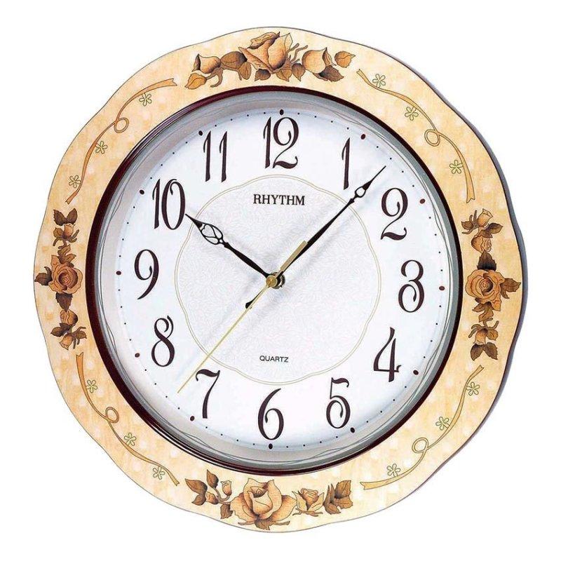 Nơi bán Đồng hồ treo tường Rhythm CMG971NR07 Wooden Wall Clocks (Nâu)