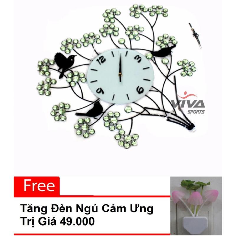 Nơi bán Đồng hồ treo tường trang trí hình cây JT1015C ( trắng )