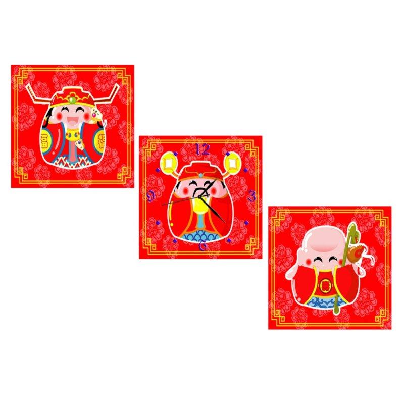 Nơi bán Đồnghồtranh Phúc Lộc Thọ VicdecorDHT0111