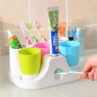 Dụng cụ tiện ích - Máy nhả kem đánh răng tự động tặng kèm 3 cốcđánh răng