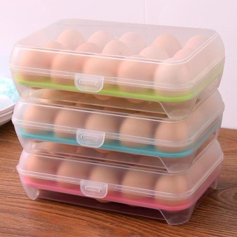 Egg Storage Box PP Refrigerator Case 15 Eggs Holder Food Storage Containers - intl