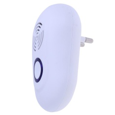 Electronic Ultrasonic Pest Reject Mosquito Cockroach Mouse Repeller(White)-EU Plug - intl
