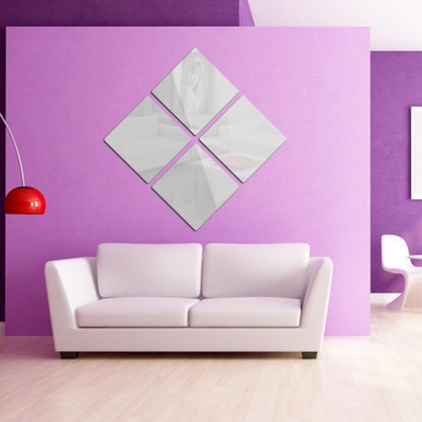 Khuyến mãi FRD Square Modern Mirror Wall Home Room 6Pcsx10cmx10cm ...