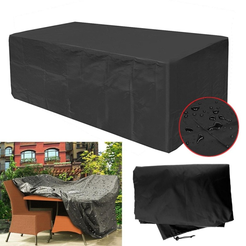 Garden Patio Furniture Cover Waterproof Rectangular Outdoor Rattan Table Cover - intl