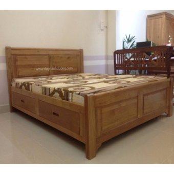 Giường 1.8m gỗ sồi Mỹ SM1 (hộc kéo)