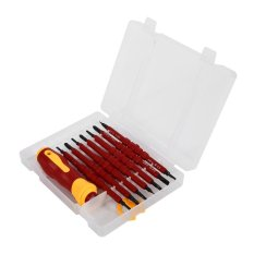 GOOD 7 in 1 Quick Screwdriver Set Insulating Two-headed Ratchet Senior Repair Tool 500V - intl