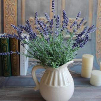 Green Plants Artificial Flower Lavender Leaves Grass FlowersArrangement