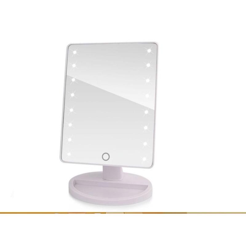 Gương trang điểm có đèn led để bàn sành điệu giao màu ngẫu nhiên