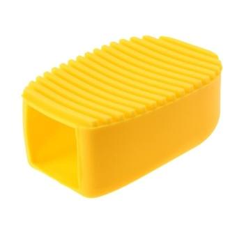 HappyLife Hand-Held Mini Washboard Antiskid Cleaning Washing Flexiblebrush(Yellow) - intl