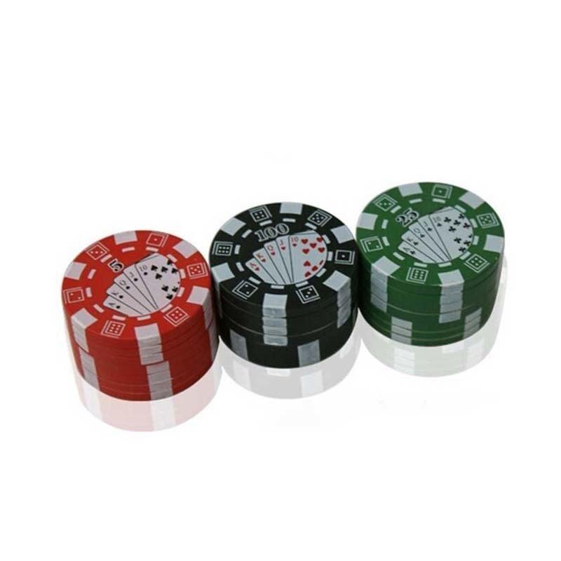 Herbal Cigar Grinder Poker 3 Layers - intl