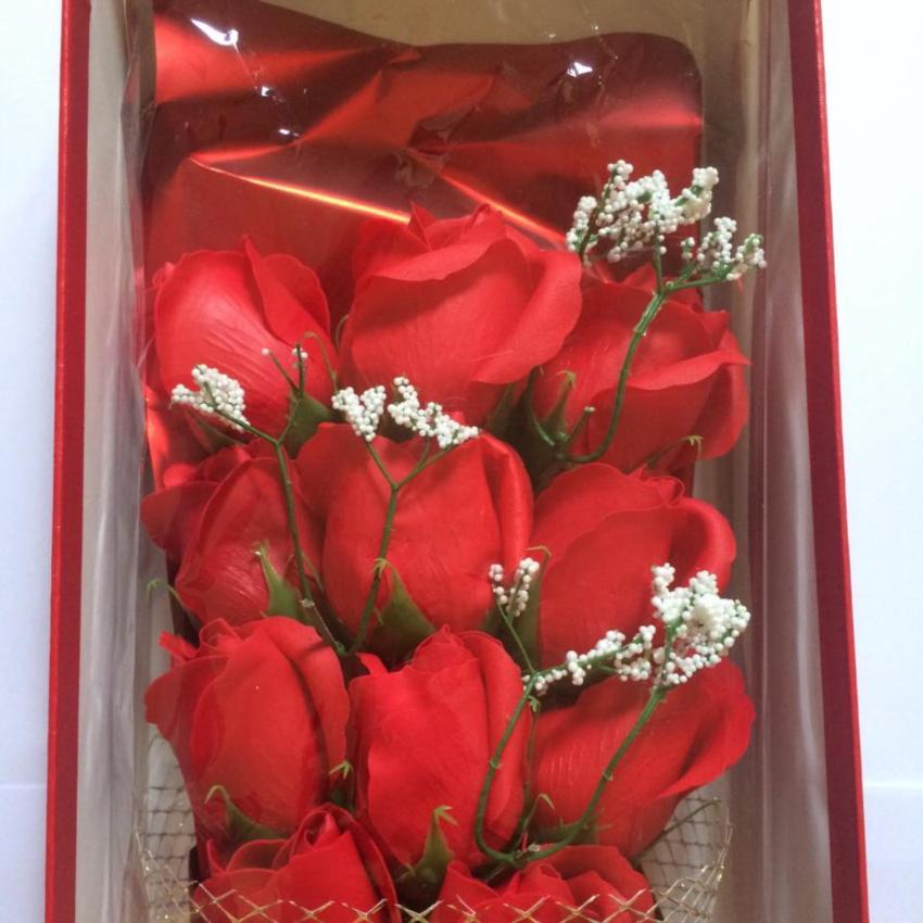 Hoa hồng sáp thơm vĩnh cửu 11 bông hoa (Đỏ)