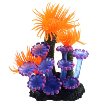 Home Soft Artificial Resin Coral Fish Tank Aquarium Lovely Decoration (Multicolor)