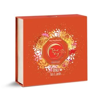 Hộp 6 bánh trung thu Kinh đô - Trăng Vàng Hồng Ngọc tặng kèm Namecard khắc logo, chữ theo yêu cầu