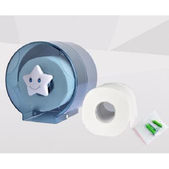 Hộp đựng giấy vệ sinh gắn tường chuyên dụng cao cấp cỡ nhỏ 14x14cm(Trắng Xám)