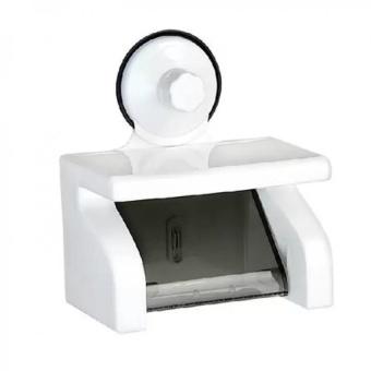 Hộp đựng giấy vệ sinh và giá đựng đồ vít chân không (màu trắng)