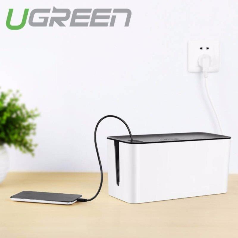 Bảng giá Hộp nhựa ABS đựng ổ cắm điện/dây sạc điện thoại... chống cháy an toàn cho bé UGREEN LP110 30397 (ghi xám)
