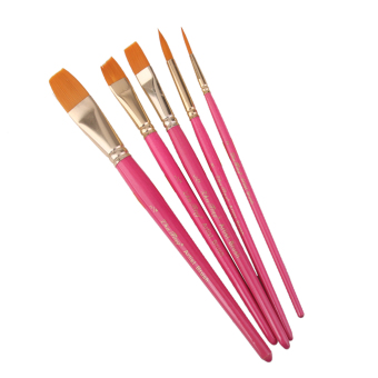 BolehDeals 5pcs Assorted Size Artist Painting Flat