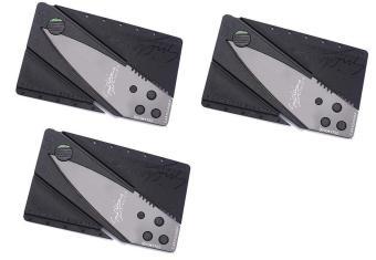 Bộ 3 dao gấp hình thẻ ATM SinClair (Đen)