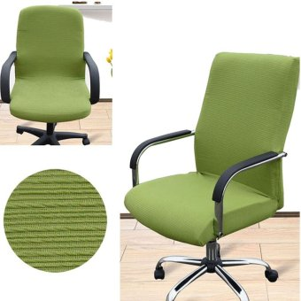 Arm Chair Cover Three Sizes Office Computer Chair Cover Side Zipper Design Recouvre Chaise Stretch Rotating Lift Chair Cover - intl