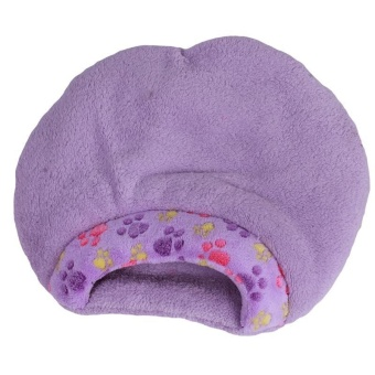 LALANG Pets Cat Bed Cozy Nest Soft Warm Cave House Winter Sleeping Bag (Purple) M